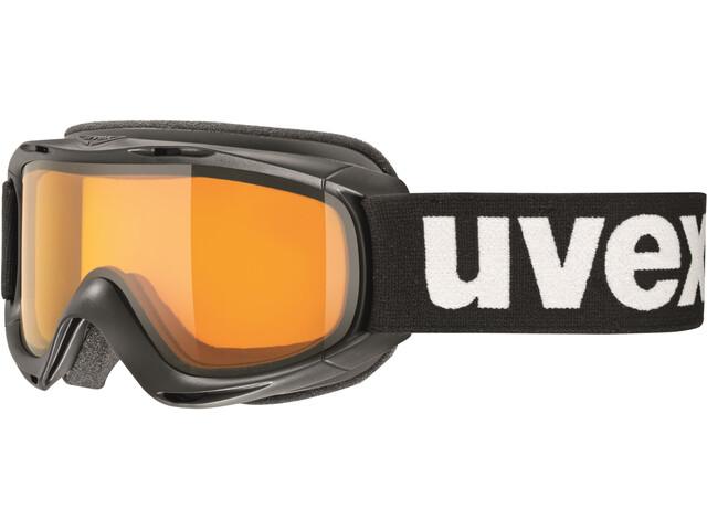 UVEX slider Niños, black/lasergold lite